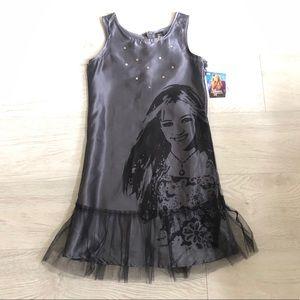 "Disney ""Hannah Montana"" Satin Sequin Dressy Dress"